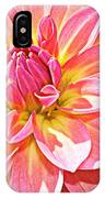 Lovely In Pink - Dahlia IPhone Case