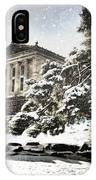 Lovely Snow On The Museum IPhone Case