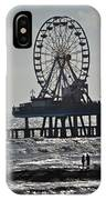 Lovers And A Surfer At Pleasure Pier IPhone Case