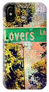 Lovers Lane IPhone Case
