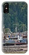 Low Tide Fishing Boat IPhone Case