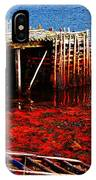 Low Tide - Red Seaweed - Fishing - Moratorium IPhone Case