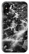 Lower Bridal Veil Falls 2 Bw IPhone X Case