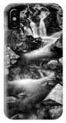 Lower Bridal Veil Falls 3 Bw IPhone X Case