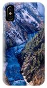 Lower Falls Into Yellowstone River IPhone Case