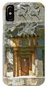 Lower-level Tomb In Myra-turkey IPhone Case