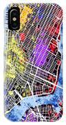 Lower Manhattan Map IPhone Case