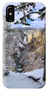 Lower Yellowstone Falls In October IPhone Case