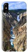 Lower Yellowstone Falls Panorama IPhone Case