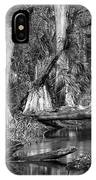 Loxahatchee Black And White IPhone Case