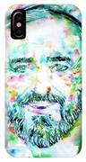 Luciano Pavarotti - Watercolor Portrait IPhone Case