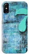 Lucky Number 7 Blue Turquoise Abstract By Chakramoon IPhone Case