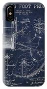 Ludwig Foot Pedal Patent Drawing From 1909 - Navy Blue IPhone Case