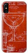 Ludwig Kettle Drum Drum Patent Drawing From 1941 - Red IPhone Case