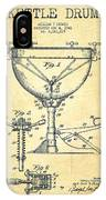 Ludwig Kettle Drum Drum Patent Drawing From 1941 - Vintage IPhone Case