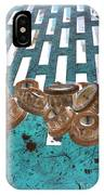 Lug Nuts On Grate Vertical Turquoise Copper IPhone Case