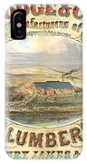 Lumber Company Ad 1880 IPhone Case
