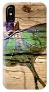 Luna Moth Worm Wood  IPhone Case
