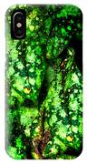 Lungwort Leaves Abstract IPhone Case