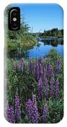Lupin And Lake-sq IPhone Case