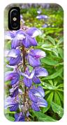 Lupine Along Trail To Rancheria Falls In Yk-canada   IPhone Case