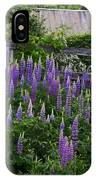 Lupine By The Fence IPhone Case