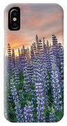 Lupine Dawn IPhone Case