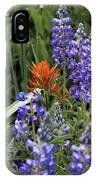 Lupine With Paintbrush 2 IPhone Case