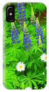 Lupines And Daisies 11 IPhone Case