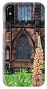Lupines At Chester Cathedral 6805 IPhone Case