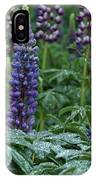 Lupines In The Rain IPhone Case