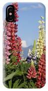 Lupinus Flowers Hokkaido Japan IPhone Case