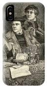 Luther Melancthon Pomeranus And Cruciger Translating  IPhone Case