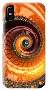 Luxe Fractal Spiral Brown And Blue IPhone Case