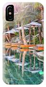 Luxury Pool With Loungers IPhone Case