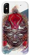 Maasai Mask - The Rain God Ngai IPhone Case