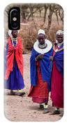 Maasai Women In Front Of Their Village In Tanzania IPhone Case