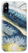 Mackerel With Oysters And Lemons, 1993 Oil On Paper IPhone Case