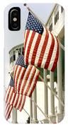 Mackinac Island Michigan - The Grand Hotel - American Flags IPhone Case
