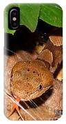 Macro Copperhead IPhone Case