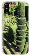 Madeira Botanic Gardens Topiary IPhone Case