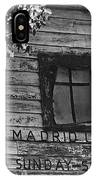 Madrid Union Sunday School Ghost Town Madrid New Mexico 1968-2008 IPhone Case