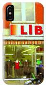 Magazin Liberal Notre Dame Ouest Dress Shop Strolling  St. Henri  Street Scenes Carole Spandau IPhone Case