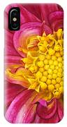 Magenta Dahlia IPhone Case