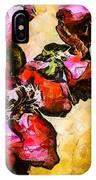 Magenta Flowers  -- Cubism IPhone Case