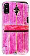 Magenta Painted Door In Garden  IPhone Case
