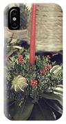 Magnolia Christmas Candle Colonial Williamsburg IPhone Case