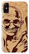 Mahatma Gandhi Coffee Painting IPhone Case