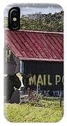 Mail Pouch Barn With Cow IPhone Case