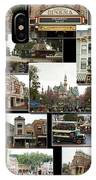 Main Street Disneyland Collage 02 IPhone Case